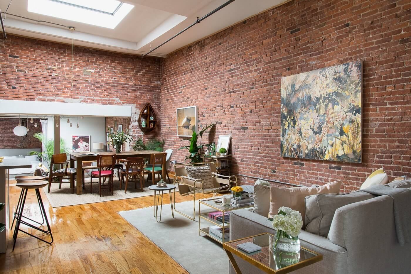 The Insider Designer Warms Up Prospect Heights Loft With Art And Vintage Furnishings