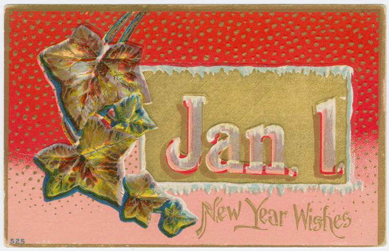 brooklyn new year 19th century celebration card brownstoner