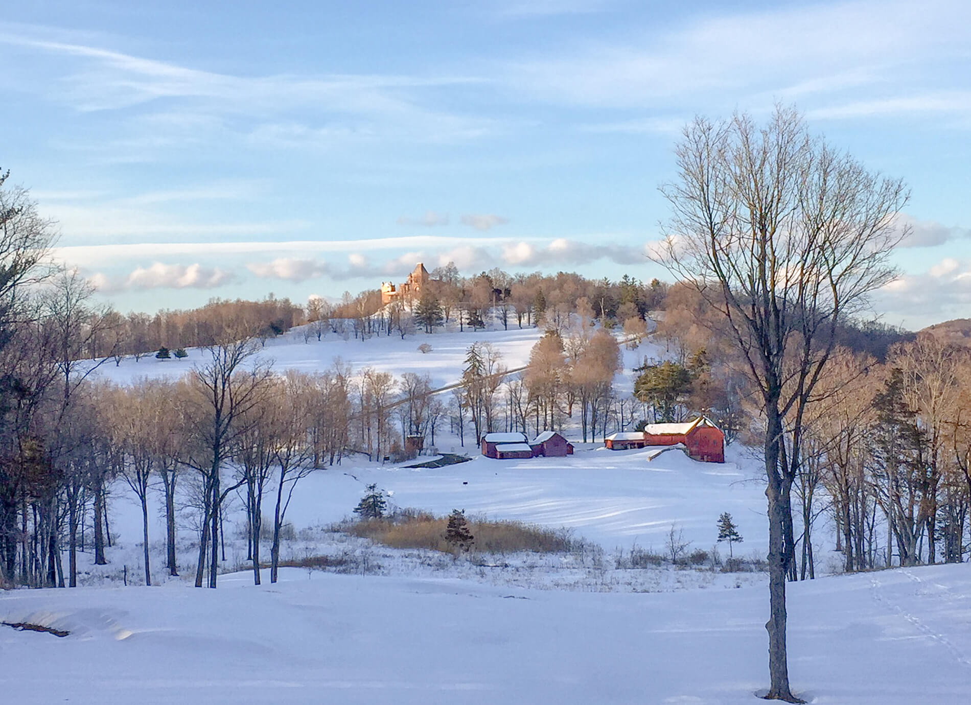 cross country skiing new york historic sites