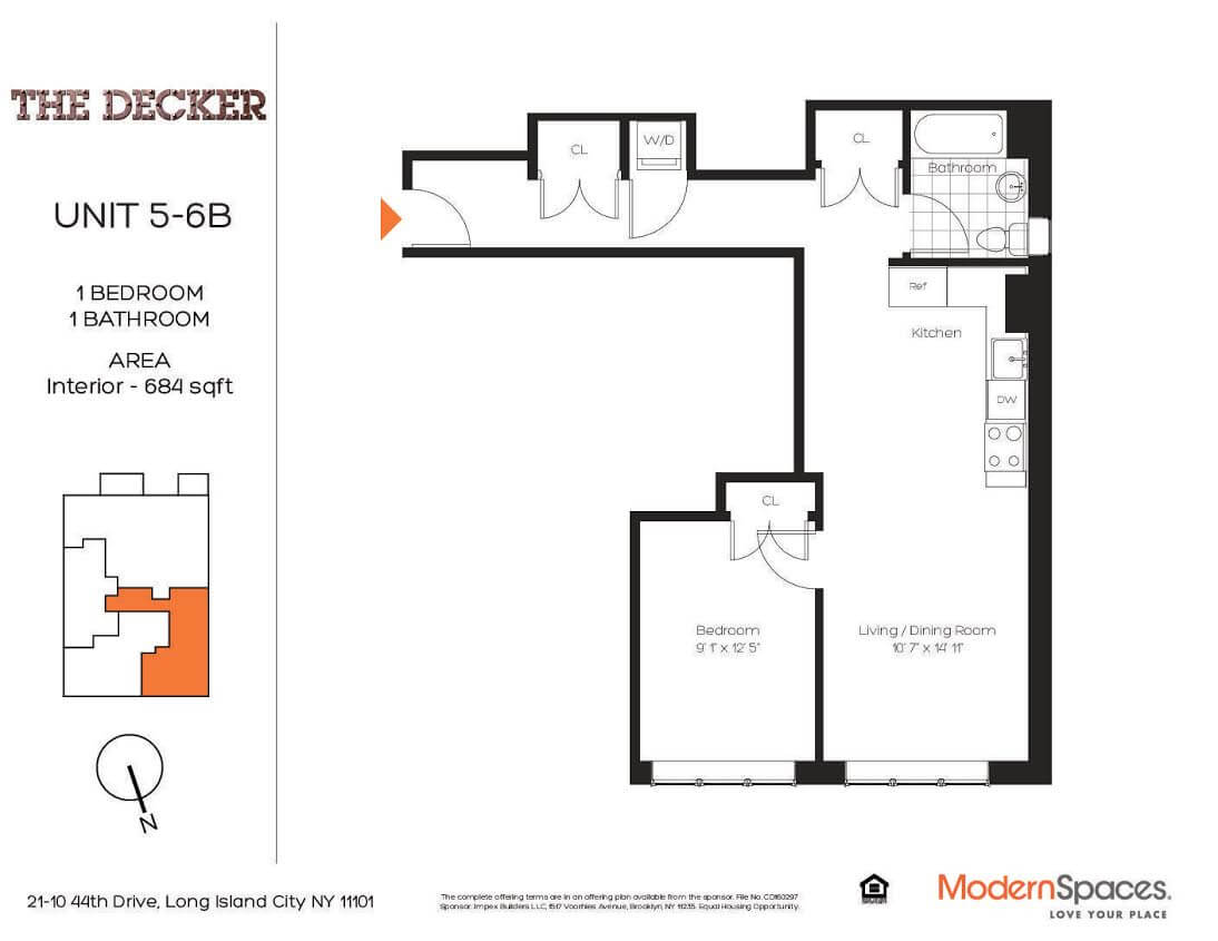Long Island City Apartments for sale The Decker 5B