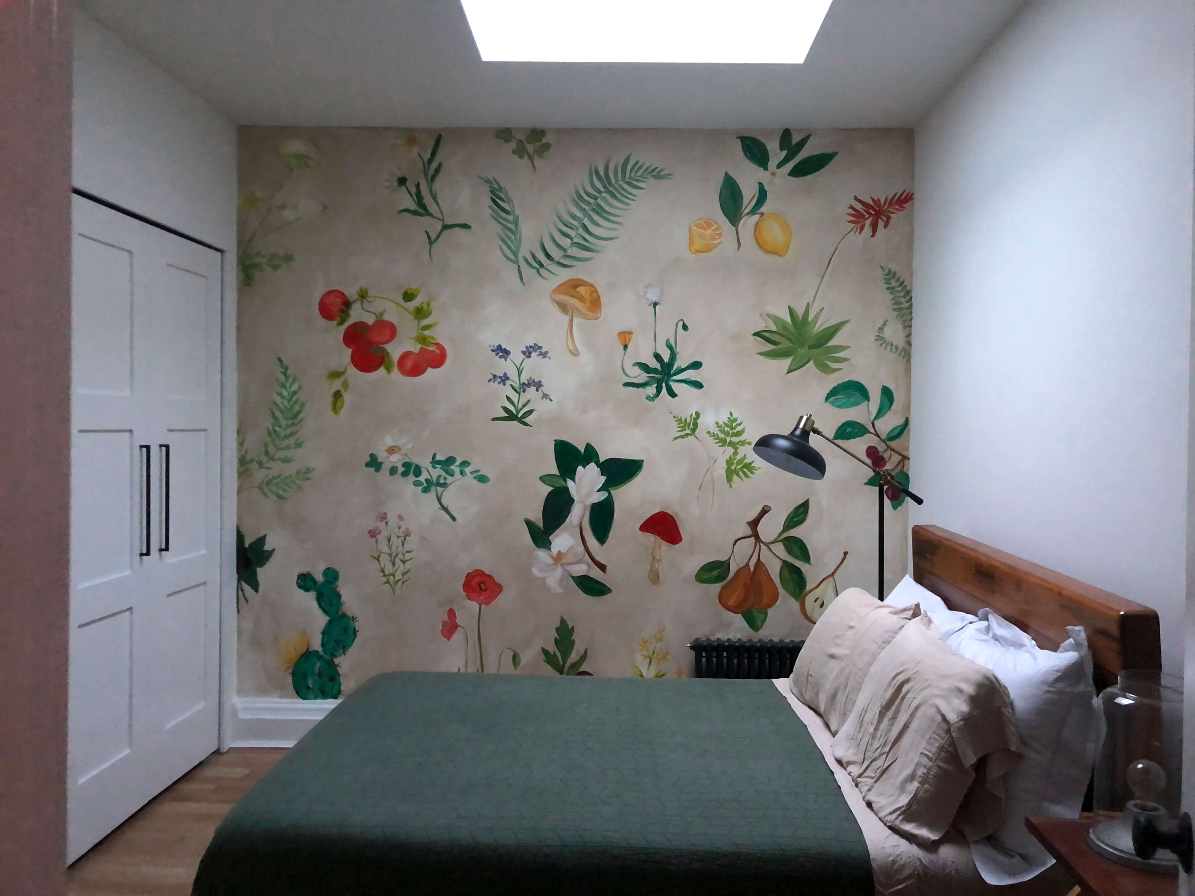 mural in bedroom