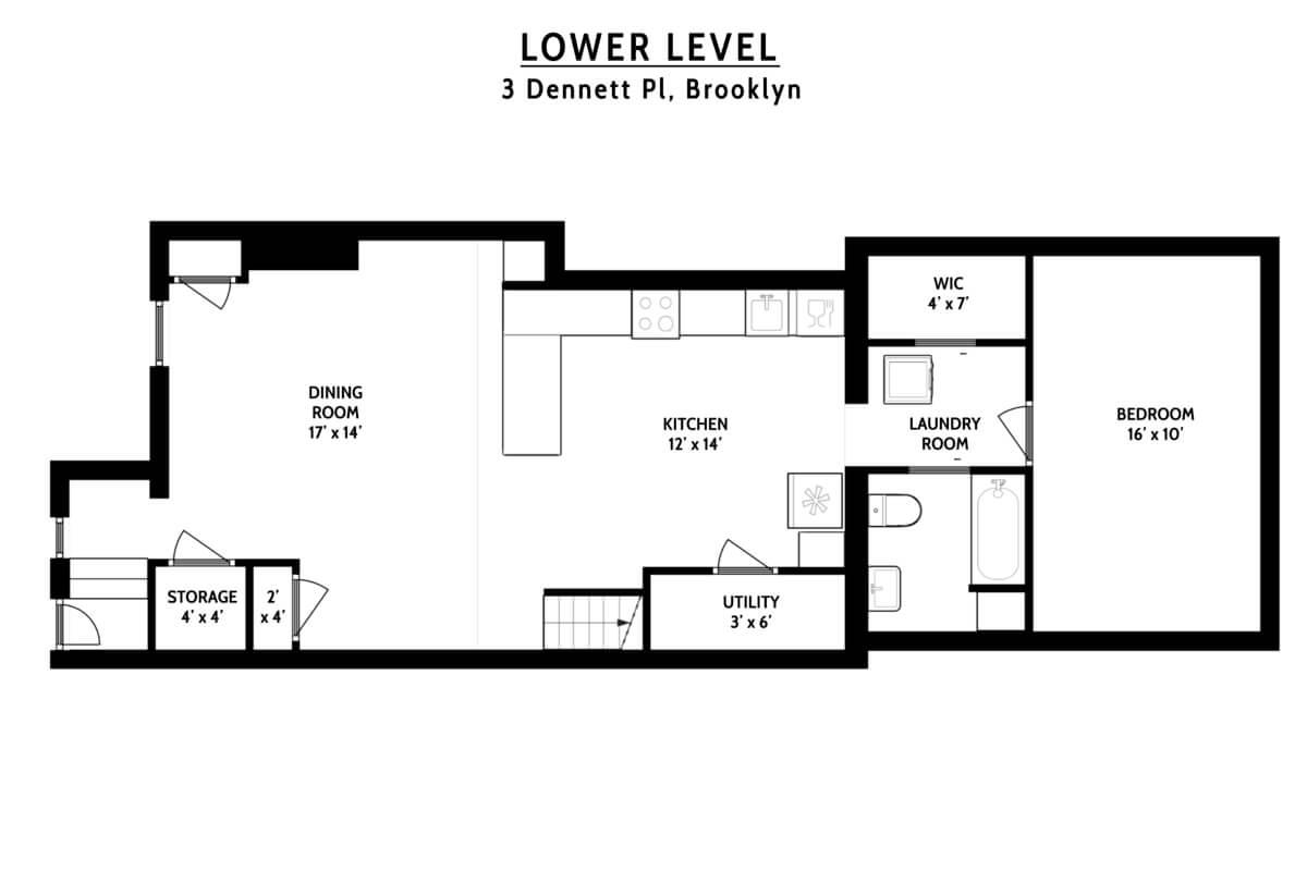 floorplan of 3 dennett place brooklyn