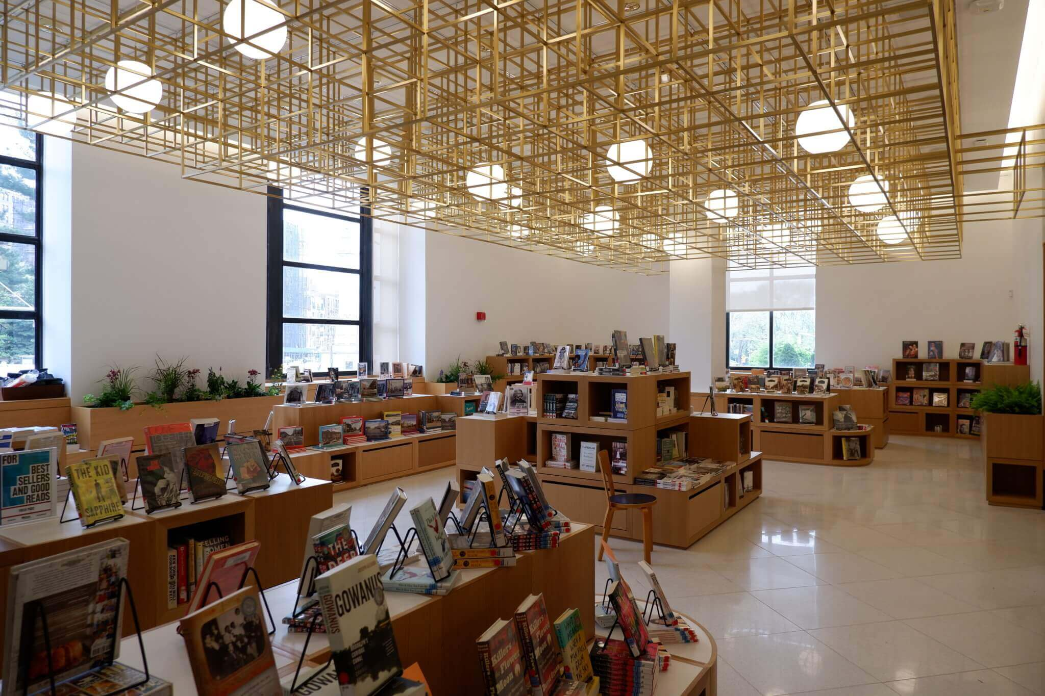 interior of renovated central library