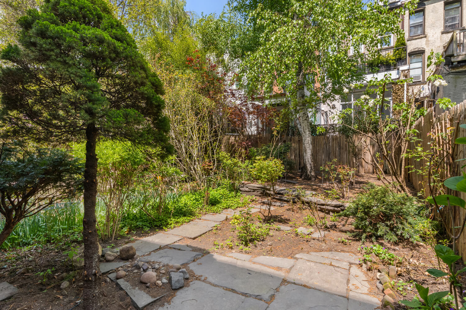garden of 35 prospect place in park slope brooklyn